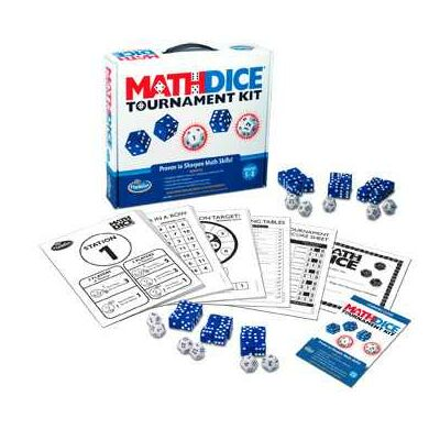 Math Dice Tournament kit, matek kockajáték 8 éves kortól - ThinkFun