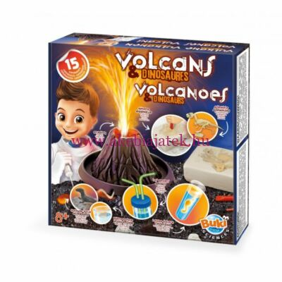 Kísérletező készlet - Vulkánok és dinók - BUKI