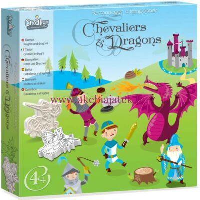 Mese nyomdakészlet, Sárkányok és Lovagok - Chevaliers & Dragons - Crealign