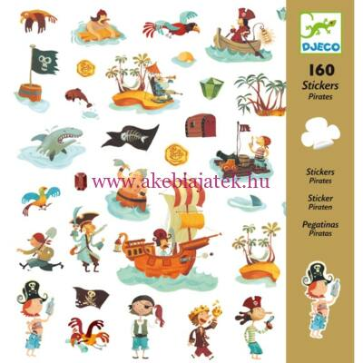 Matricák - Kalózok - Pirates 4 éves kortól - Djeco