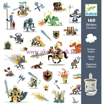 Matricák - Lovagok - Knights 4 éves kortól - Djeco