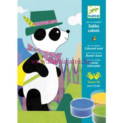 Panda és barátai homokszóró 5-7 éveseknek - Djeco