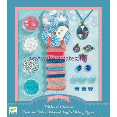 Ékszerkészítő készlet - Gyöngyök és madarak - Pearls and birds 8-14 éveseknek - Djeco