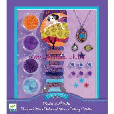 Ékszerkészítő készlet - Gyöngyök és csillagok - Pearls and stars 8-14 éveseknek - Djeco