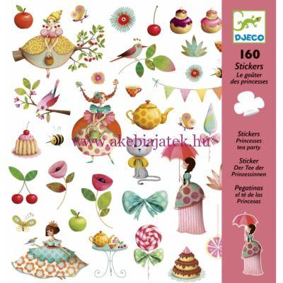 Matricák - Hercegnők tea partyja - Princess Tea Party 4 éves kortól - Djeco
