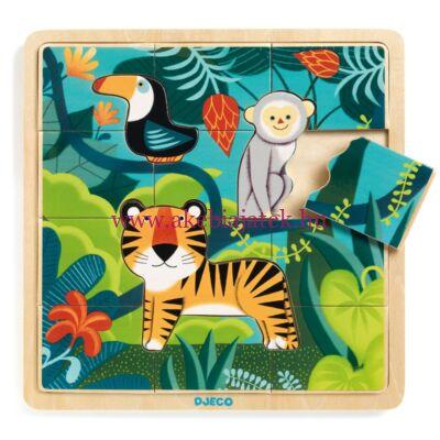 Dzsungel képkirakó, puzzle - Puzzle Jungle - Djeco