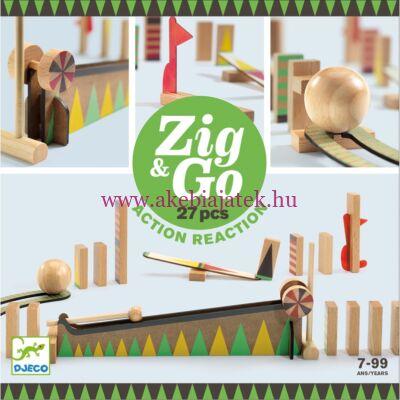Zig & Go akció-reakció dominó elven működő építőjáték, 27 db - Djeco