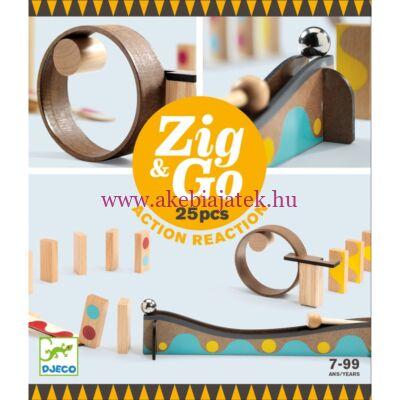 Zig & Go akció-reakció dominó elven működő építőjáték, 25 db - Djeco