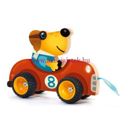 Húzható játék - Terreno car, 18 hónapos kortól - Djeco