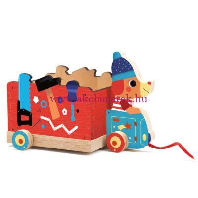 Húzható játék - Jo truck, 18 hónapos kortól - Djeco