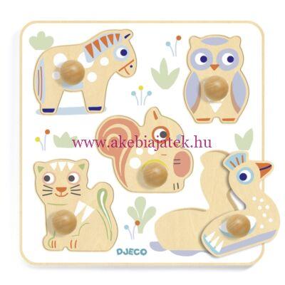 BabyPuzzi formaillesztő, formaberakó baba puzzle - Djeco 6107