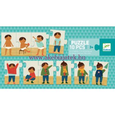 Felöltözök - I am dressing up puzzle, kirakó 3 éves kortól - Djeco