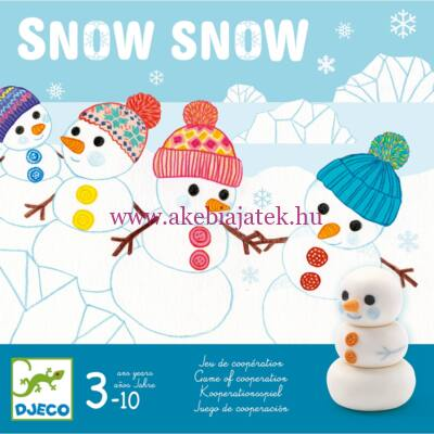 Snow snow, kooperációs társasjáték 3 éves kortól - Djeco