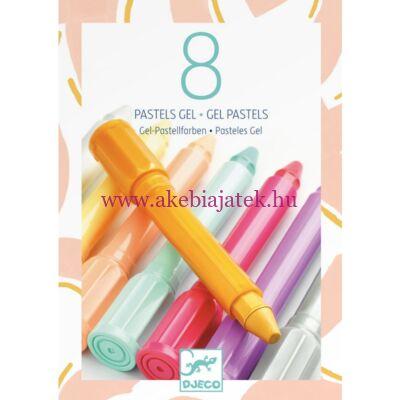 8db gél pastell zsírkréta - sweet colours - Djeco