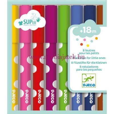 Kimosható filctoll a legkisebbeknek - 8 felt-tips for little ones - Djeco design by