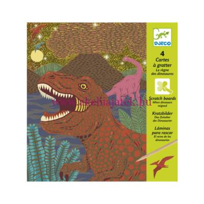 Dinoszauruszok karctechnika, When dinosaures reigned - Djeco design by