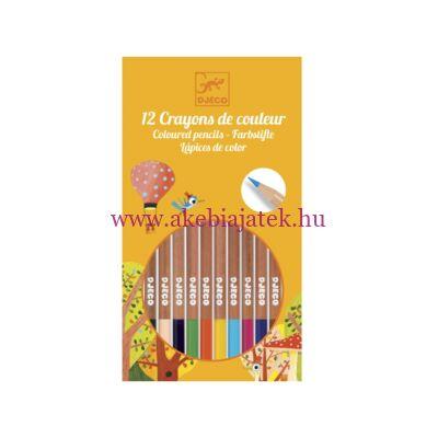 12 db-os színes ceruza készlet - Djeco