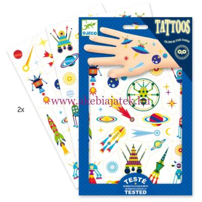 Égi furcsaságok tetoválás, Space oddity tattoo - Djeco design by