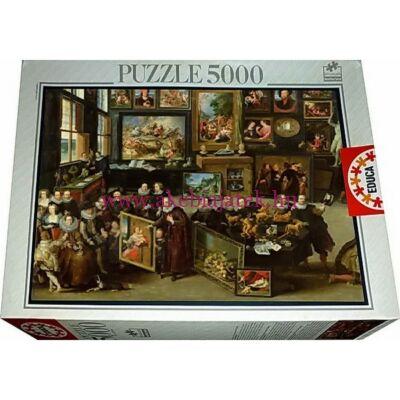 Williem Van Haecht: Lo Studio D'Arte 5000 db puzzle, kirakó - Educa