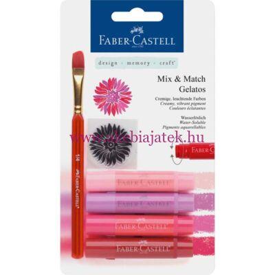 Faber-Castell Mix & Match Gelatos szett 4db piros - Faber-Castell