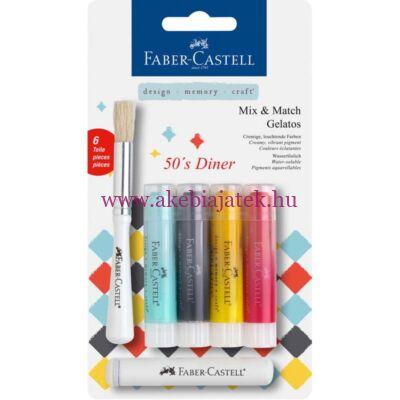 Faber-Castell Mix & Match Gelatos 50's Dinner 6db - Faber-Castell