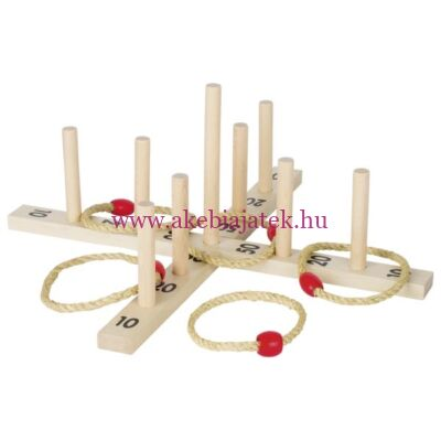 Karikadobálós játék fából - Goki