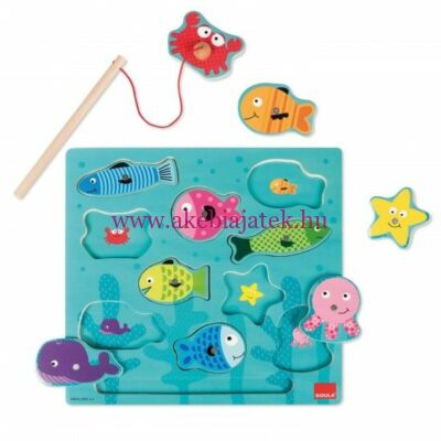 Mágneses horgász kirakó puzzle, Magnetic Fishing Puzzle - Goula