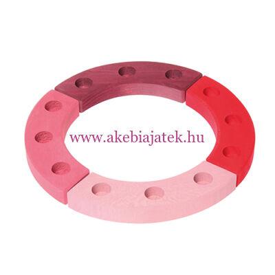 Grimm's - Szülinapi gyűrű, pink-piros, 12 éves - Grimm's