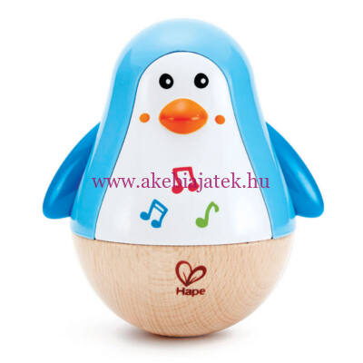Pingvines zenélő keljfeljancsi, Penguin Musical Wobbler - HAPE