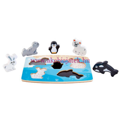 Tapintós puzzle kirakó, sarkvidéki állatok - HAPE