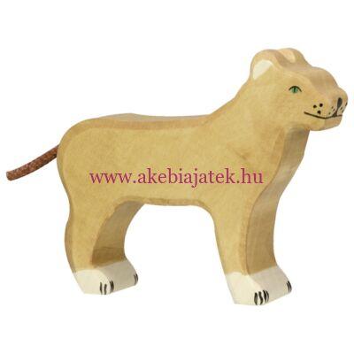 Oroszlán, nőstény fafigura, fajáték - 80140 - Holztiger