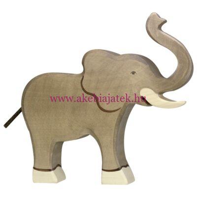 Elefánt trombitáló, fafigura, fajáték - 80148 - Holztiger