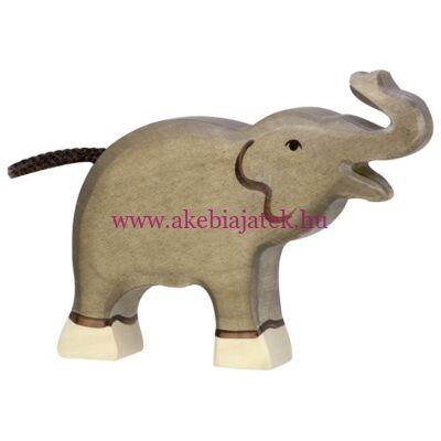 Elefánt kicsi trombitáló, fafigura, fajáték - 80150 - Holztiger