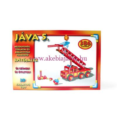 Jáva 5. Építőjáték (386 elem) piros színekkel - JÁVA