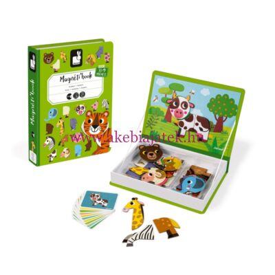 Mágneses könyv - Állatok, 3 éves kortól - JANOD