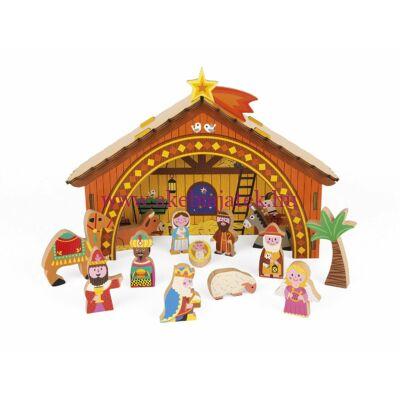 Betlehemi jelenet fából, Nativity scene - JANOD