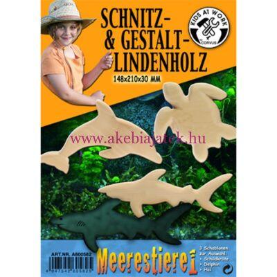 Fafaragás, tengeriállatok 21x14,8x3 cm - Kids at work