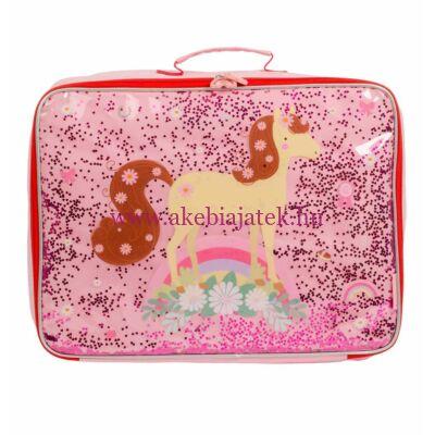 Bőrönd, LÓ - csillámos - A Little Lovely Company