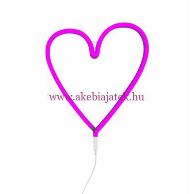 Szív - pink, neon lámpa - A Little Lovely Company