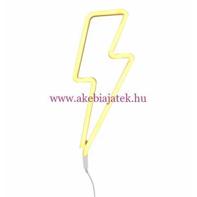 Villám - sárga, neon lámpa - A Little Lovely Company