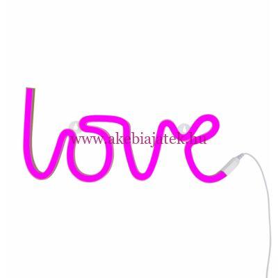 LOVE - pink, neon lámpa - A Little Lovely Company
