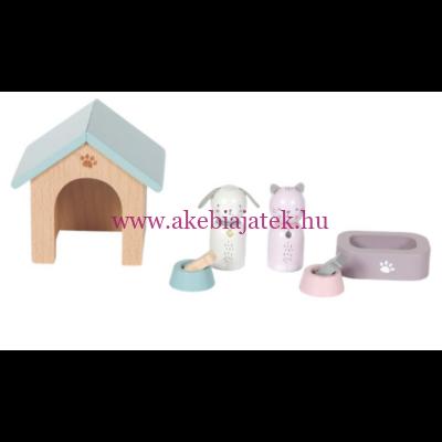 Babaház kiegészítők, Házikedvencek - Doll's house playset, Pets- Little Dutch