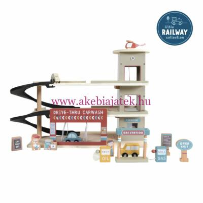 Fa parkolóház garázs, kiegészítő - Railway extension - Garage - Little Dutch