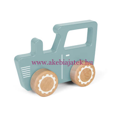 Traktor fából - Tractor toy car, Blue - Little Dutch