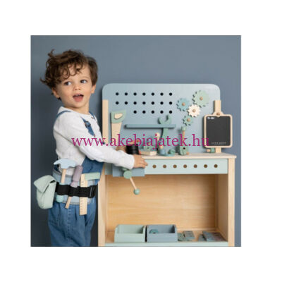Munkapad fából - Wooden workbench, Adventure blue - Little Dutch