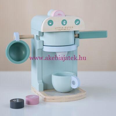 Kávéfőző szett - kapszulás, menta - Coffee machine, mint - Little Dutch