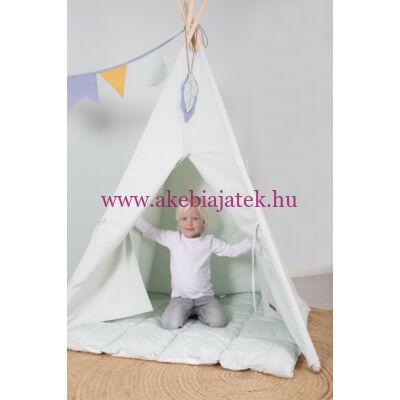 Indián tipi sátor szőnyeggel és zászlókkal, Wigwam Mint - Little Dutch