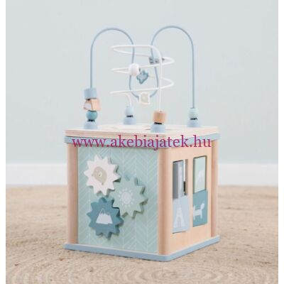Activity felfedező kocka, Activity cube - Adventure Blue - Little Dutch