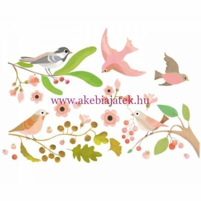 Ablakmatrica - Romantic birds - Little BIG room by Djeco
