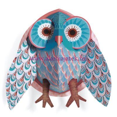 3D-s falikép - Pretty owl - Bagoly - ULYSSE, Little BIG room by Djeco